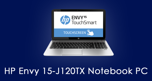 HP Envy 15 J120TX Notebook PC Drivers Download