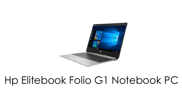 HP EliteBook Folio G1 Notebook Drivers Download