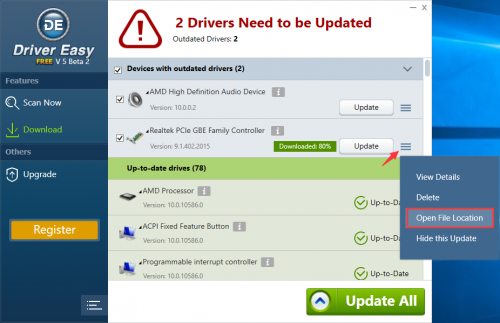 Windows Driver Update With Driver Easy