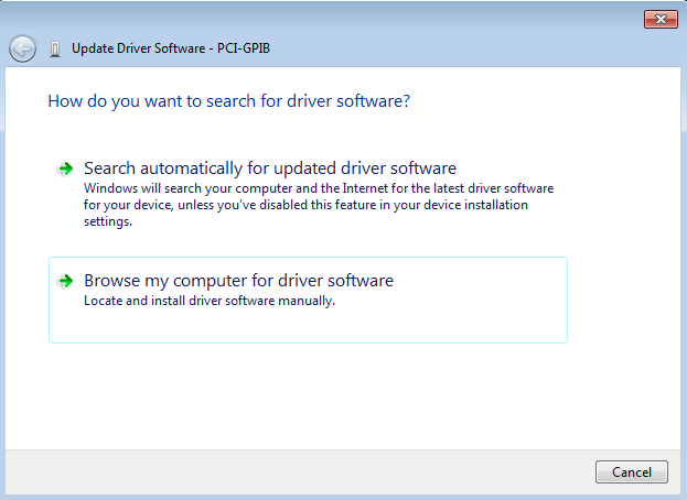 driver software option