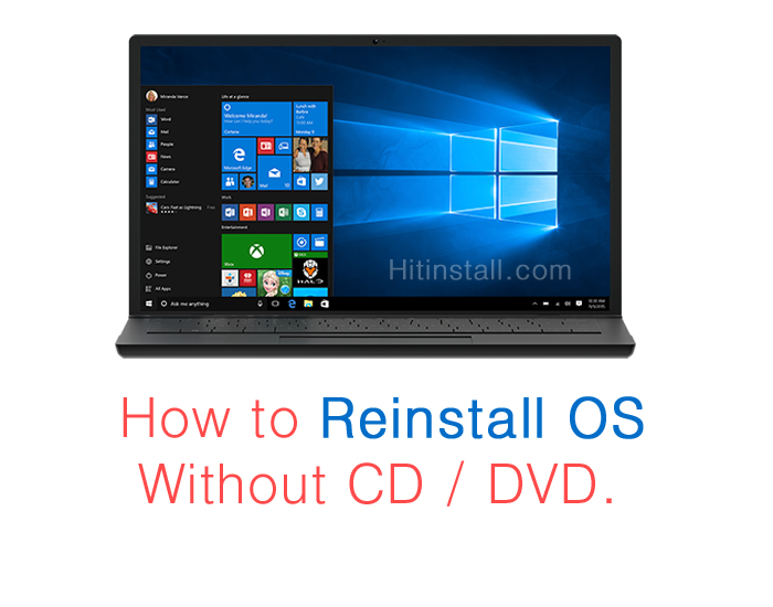 How To Reformat Windows 10 7 8 Os Without Windows Cd Dvd